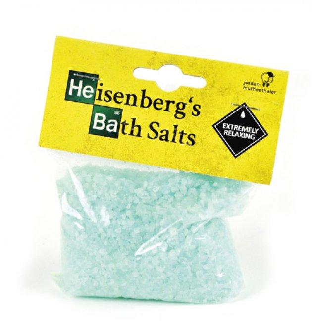 Heisenberg Badesalz, Bath Tub Salt, grünes badesalz, gelbes Etikette, Jordan Muthenthaler
