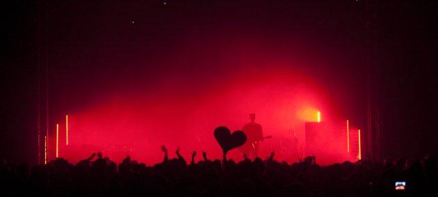 Bühne, Menschen, Nebel, Konzert, Rotes Licht, Herz